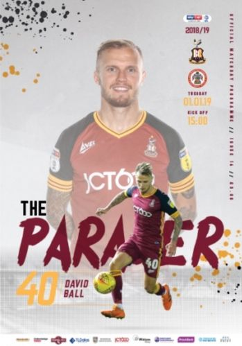 Bradford City v Accrington Stanley - League - 01.01.19