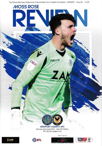 Macclesfield Town v Newport County - League - 22.04.19