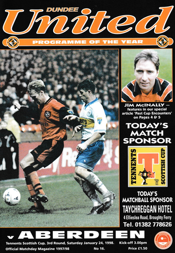 Dundee United v Aberdeen - Scottish Cup - 24.01.98