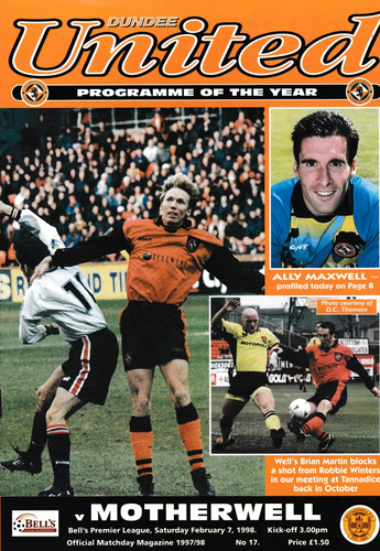 Dundee United v Motherwell - League - 07.02.98