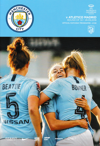 Manchester City Women v Atletico Madrid - Women's Champions League - 26.09.18