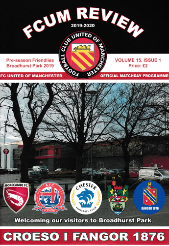 FC United of Manchester friendlies programme