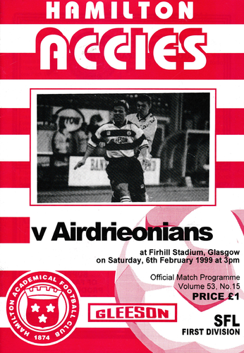 Hamilton Academical v Airdrieonians - League - 06.02.99