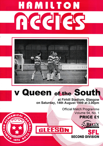 Hamilton Academical v Queen of the South - League - 14.08.99