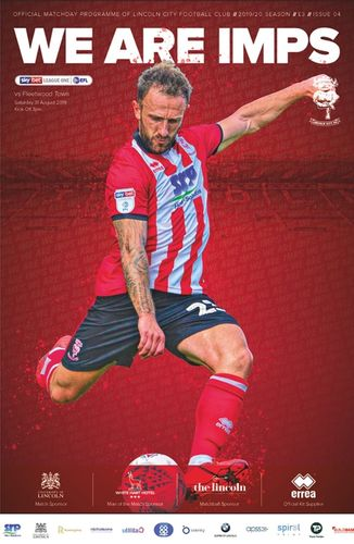 Lincoln City v Fleetwood Town - League - 31.08.19
