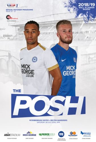 Peterborough United v Bolton Wanderers - Friendly - 28.07.18