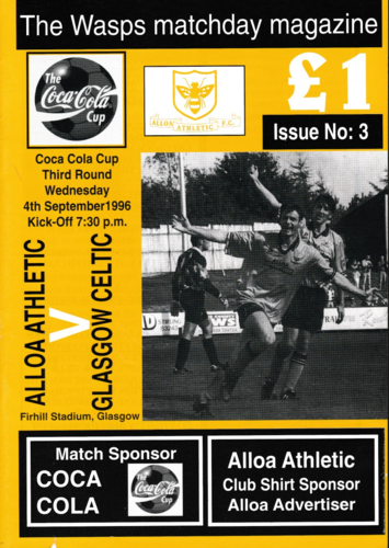 Alloa Athletic v Celtic - Coca Cola Cup - 04.09.96