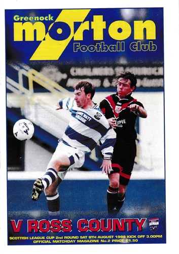 Morton v Ross County - League Cup - 08.08.98