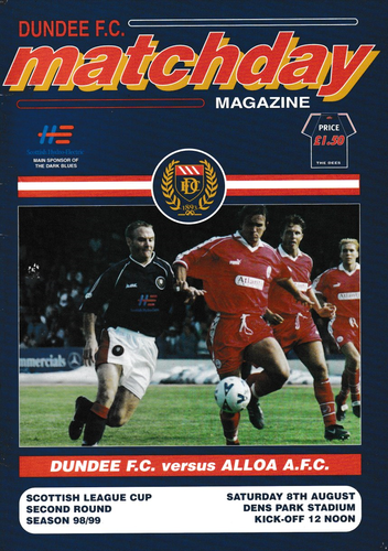 Dundee v Alloa Athletic - League Cup - 08.08.98