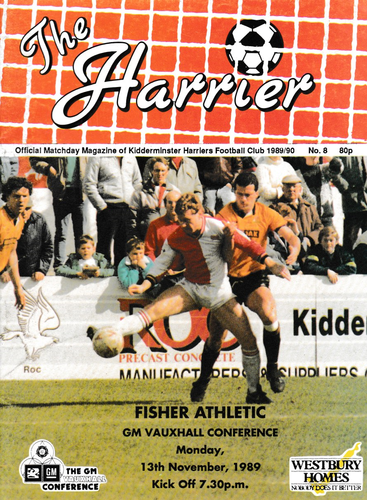 Kidderminster Harriers v Fisher Athletic - League - 13.11.89