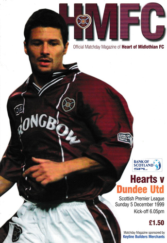 Heart of Midlothian v Dundee United - League - 05.12.99