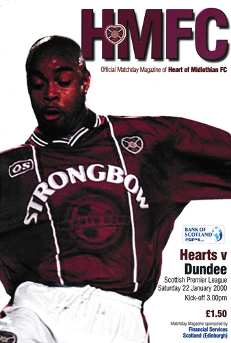 Heart of Midlothian v Dundee - League - 22.01.00