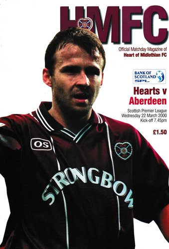 Heart of Midlothian v Aberdeen - League - 22.03.00
