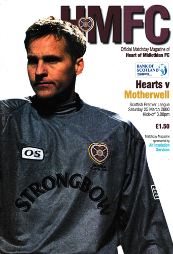 Heart of Midlothian v Motherwell - League - 25.03.00