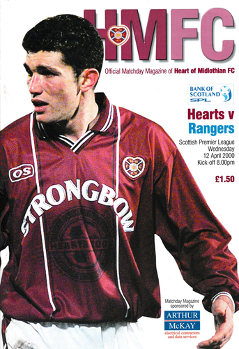 Heart of Midlothian v Rangers - League - 12.04.00