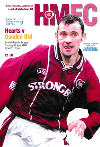 Heart of Midlothian v Dundee United - League - 22.04.00