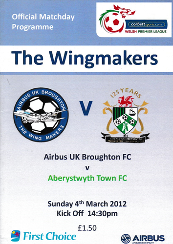 Airbus UK Broughton v Aberystwyth Town - League - 04.03.12