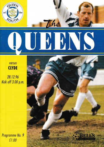 Queen of the South v Clyde - League - 28.12.96