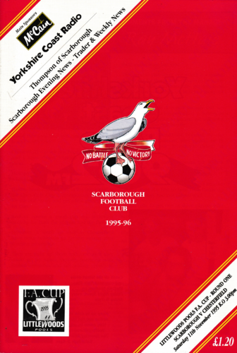 Scarborough v Chesterfield - FA Cup - 11.11.95