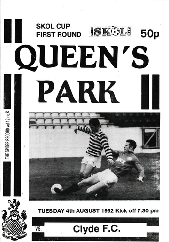 Queen's Park v Clyde - Skol Cup - 04.08.92