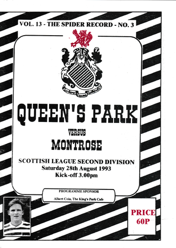 Queen's Park v Montrose - League - 28.08.93