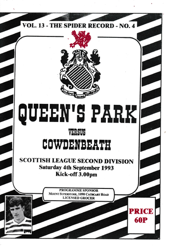 Queen's Park v Cowdenbeath - League - 04.09.93