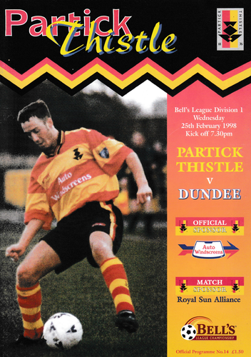 Partick Thistle v Dundee - League - 25.02.98