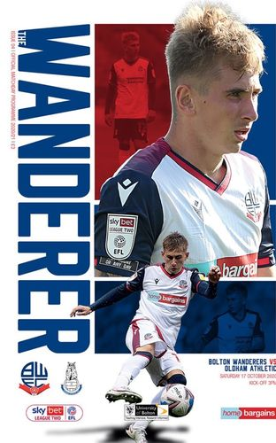 Bolton Wanderers v Oldham Athletic - League - 17.10.20