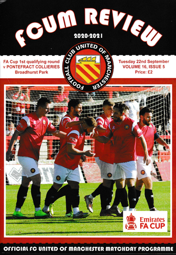 FC United of Manchester v Pontefract Collieries - FA Cup - 22.09.20