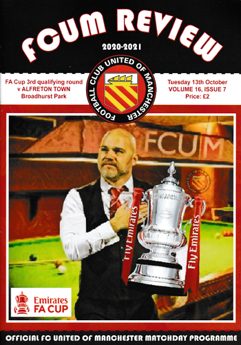 FC United of Manchester v Alfreton Town - FA Cup - 13.10.20 POSTPONED