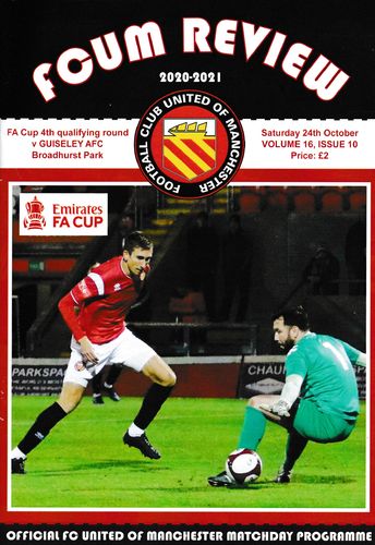 FC United of Manchester v Guiseley - FA Cup - 24.10.20