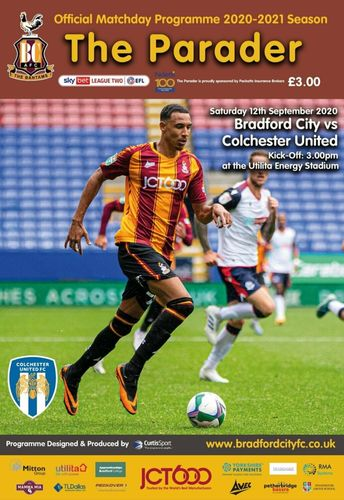 Bradford City v Colchester United - League - 12.09.20
