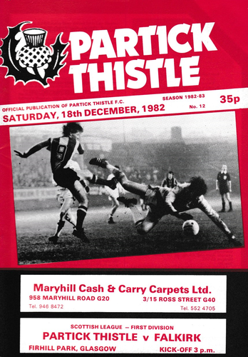 Partick Thistle v Falkirk - League - 18.12.82
