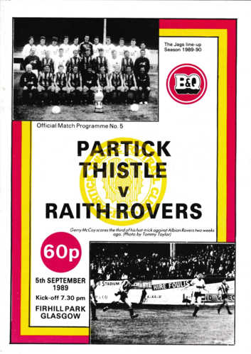 Partick Thistle v Raith Rovers - League - 05.09.89