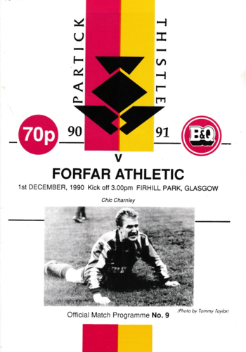 Partick Thistle v Forfar Athletic - League - 01.12.90