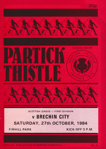 Partick Thistle v Brechin City - League - 27.10.84