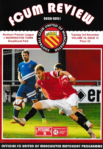 FC United of Manchester v Warrington Town - League - 03.11.20