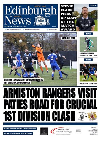 Edinburgh United v Arniston Rangers - League - 21.11.20