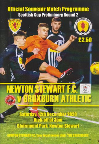 Newton Stewart v Broxburn Athletic - Scottish Cup - 12.12.20